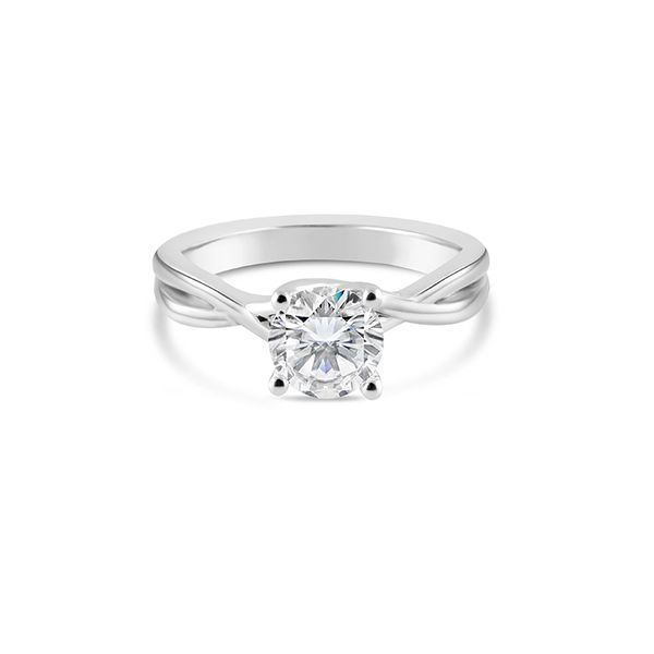 Twist Solitaire Engagement Ring Mark Allen Jewelers Santa Rosa, CA