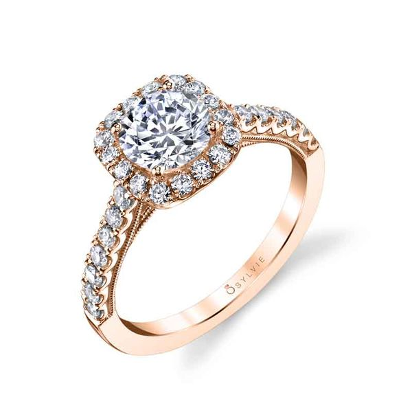 DIANDRA - HALO DIAMOND ENGAGEMENT RING Image 3 Mark Allen Jewelers Santa Rosa, CA
