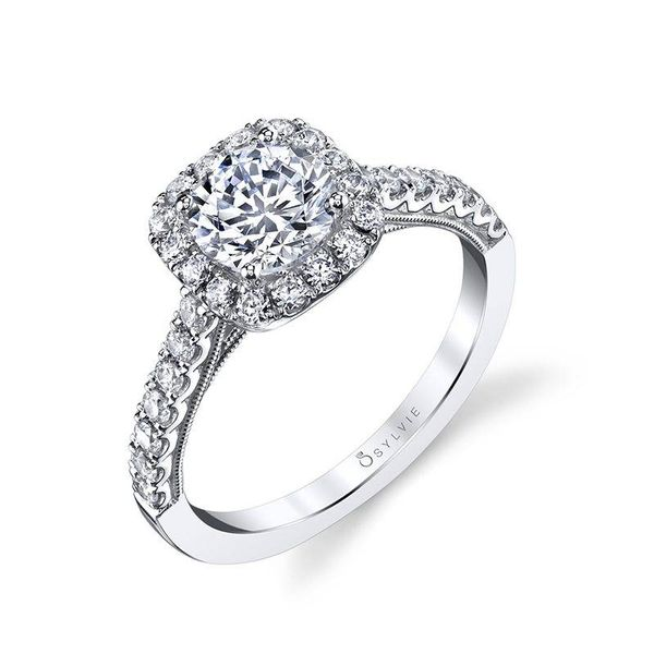 DIANDRA - HALO DIAMOND ENGAGEMENT RING Mark Allen Jewelers Santa Rosa, CA