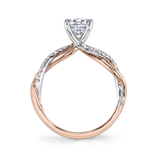 YASMINE - HIGH POLISH SPIRAL ENGAGEMENT RING IN ROSE GOLD Image 2 Mark Allen Jewelers Santa Rosa, CA