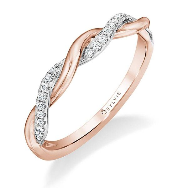 YASMINE - HIGH POLISH SPIRAL ENGAGEMENT RING IN ROSE GOLD Image 5 Mark Allen Jewelers Santa Rosa, CA