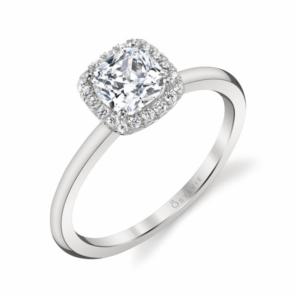 ELSIE - CLASSIC CUSHION HALO ENGAGEMENT RING Image 3 Mark Allen Jewelers Santa Rosa, CA