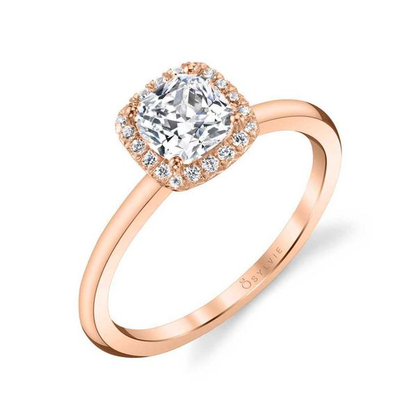 ELSIE - CLASSIC CUSHION HALO ENGAGEMENT RING Image 4 Mark Allen Jewelers Santa Rosa, CA