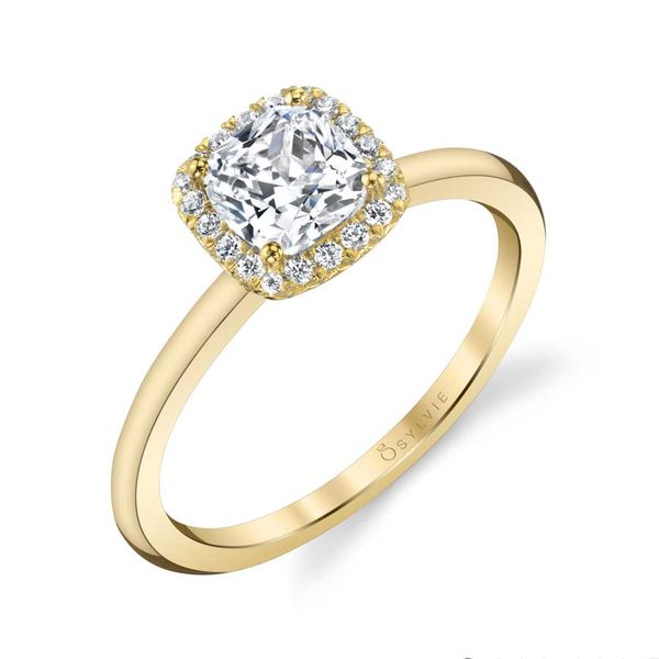 ELSIE - CLASSIC CUSHION HALO ENGAGEMENT RING Mark Allen Jewelers Santa Rosa, CA