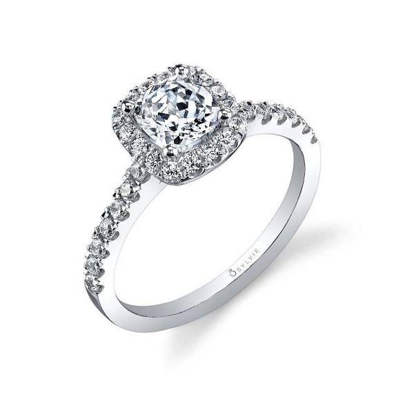 CHANTELLE - CUSHION CUT HALO ENGAGEMENT RING Mark Allen Jewelers Santa Rosa, CA