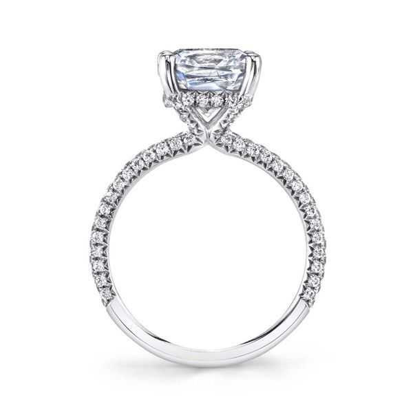 JAYLA - SOLITAIRE ENGAGEMENT RING WITH PAVE DIAMONDS Image 2 Mark Allen Jewelers Santa Rosa, CA