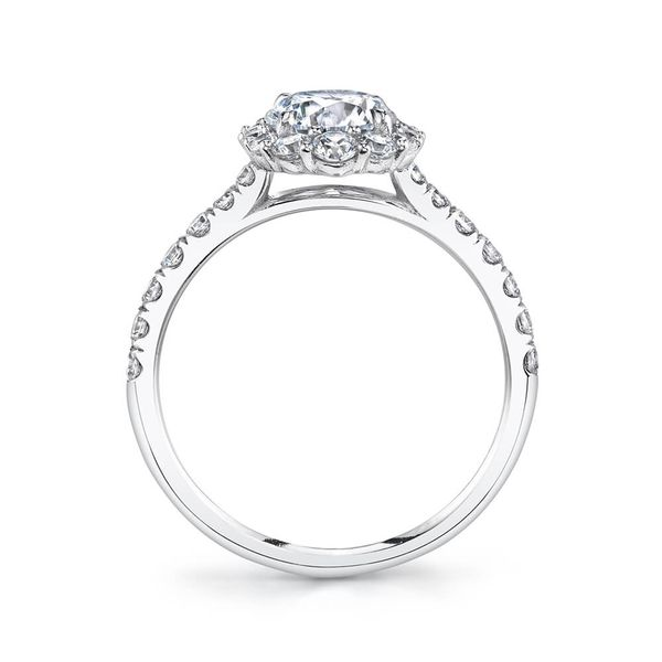 OVAL HALO ENGAGEMENT RING Image 2 Mark Allen Jewelers Santa Rosa, CA