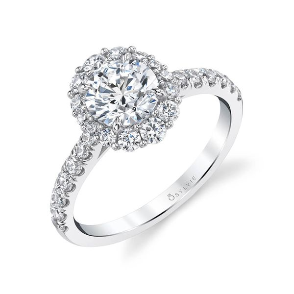 OVAL HALO ENGAGEMENT RING Mark Allen Jewelers Santa Rosa, CA