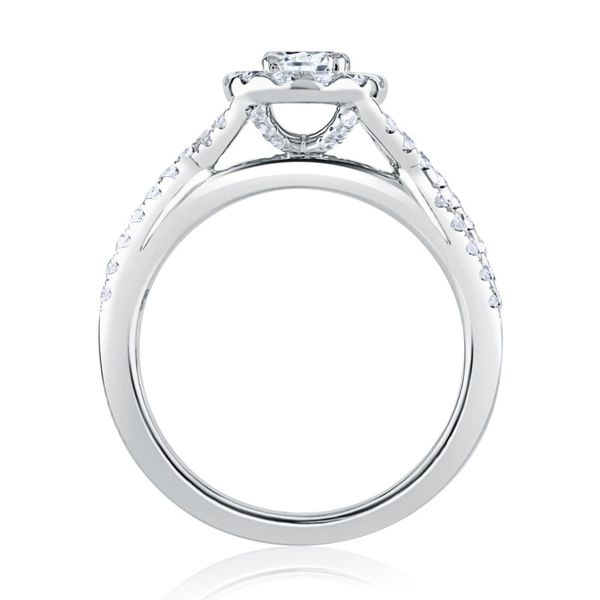 Oval Halo Diamond Engagement Ring Image 2 Mark Allen Jewelers Santa Rosa, CA