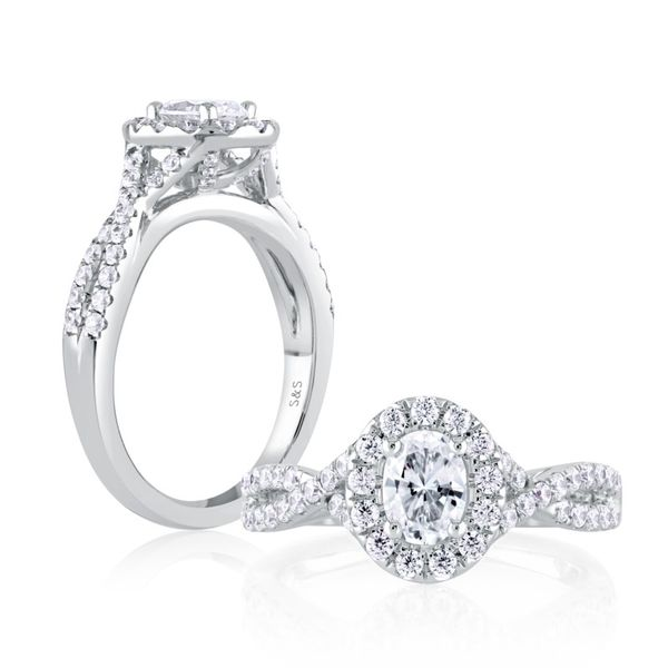 Oval Halo Diamond Engagement Ring Image 3 Mark Allen Jewelers Santa Rosa, CA