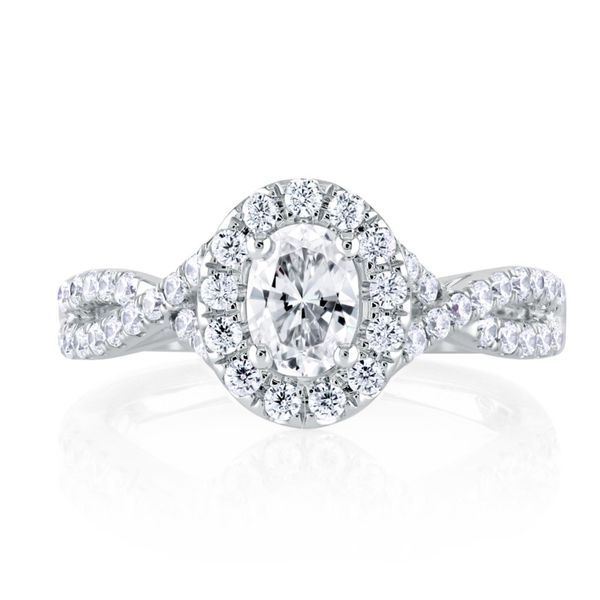 Oval Halo Diamond Engagement Ring Mark Allen Jewelers Santa Rosa, CA