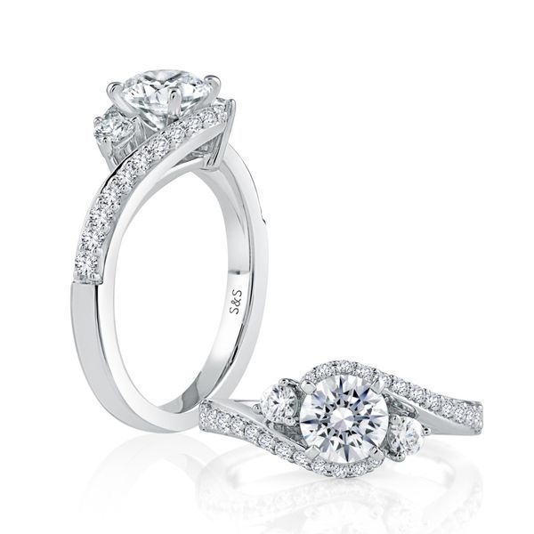White Gold Diamond Engagement Ring Image 3 Mark Allen Jewelers Santa Rosa, CA