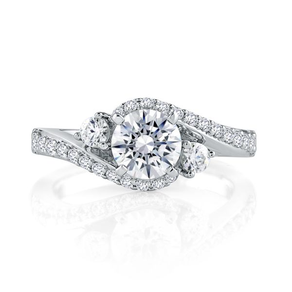 White Gold Diamond Engagement Ring Mark Allen Jewelers Santa Rosa, CA