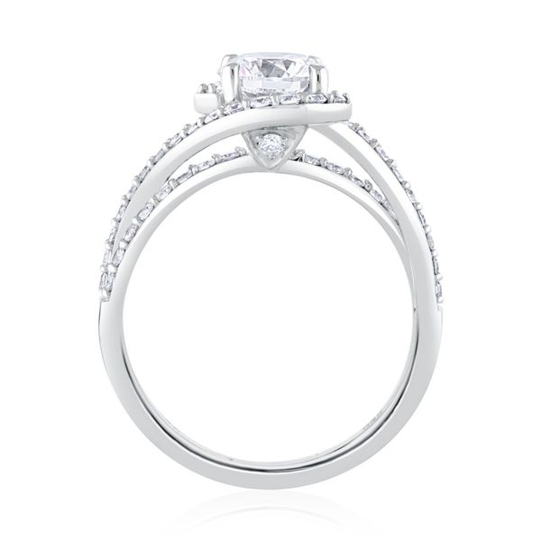 White Gold Diamond Engagement Ring Image 2 Mark Allen Jewelers Santa Rosa, CA