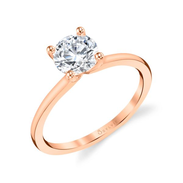White Gold Solitaire Engagement Ring Image 3 Mark Allen Jewelers Santa Rosa, CA