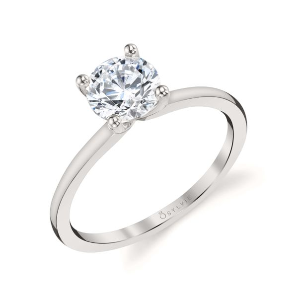 White Gold Solitaire Engagement Ring Mark Allen Jewelers Santa Rosa, CA