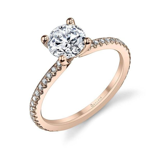 ADORLEE – ROUND SOLITAIRE ROSE GOLD ENGAGEMENT RING Mark Allen Jewelers Santa Rosa, CA