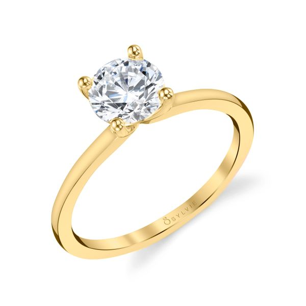 Yellow Gold Solitaire Engagement Ring Mark Allen Jewelers Santa Rosa, CA