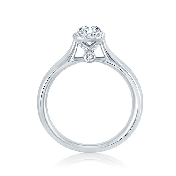 14k White Gold .50ctw Diamond Halo Engagement Ring Image 3 Mark Allen Jewelers Santa Rosa, CA