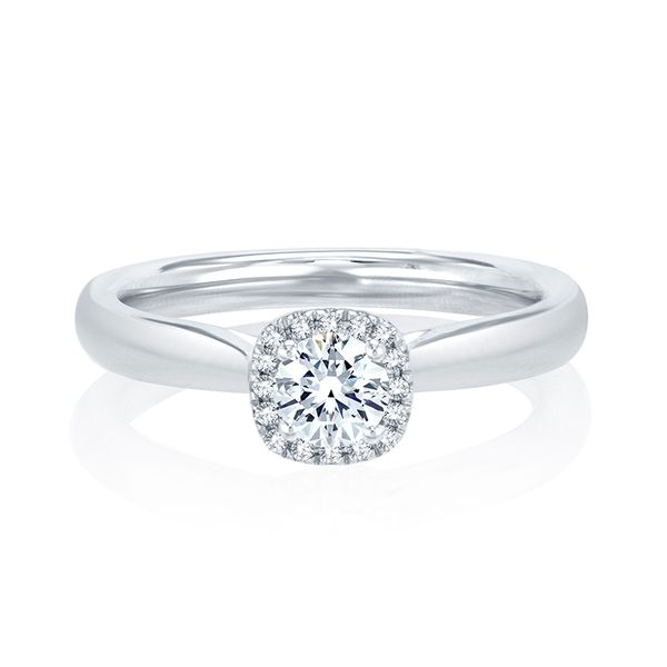 Halo Diamond Engagement Ring Mark Allen Jewelers Santa Rosa, CA