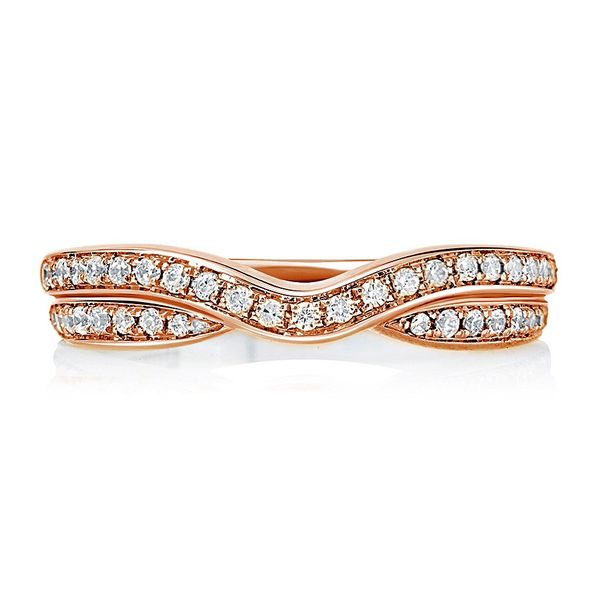Double Row Curved Diamond Wedding Band Mark Allen Jewelers Santa Rosa, CA
