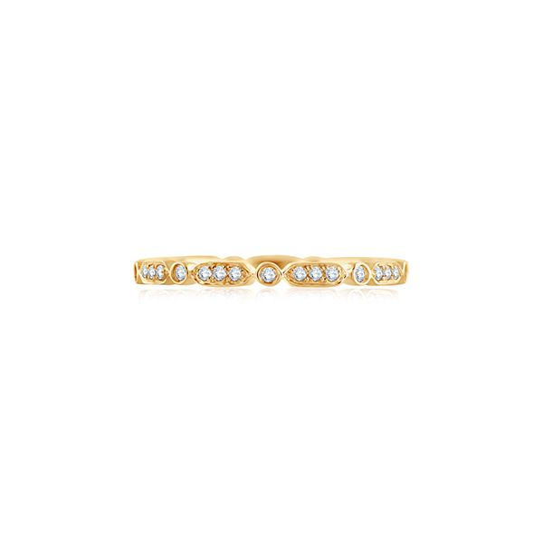 Triple and Single Set Eternity Diamond Stackable Band Mark Allen Jewelers Santa Rosa, CA