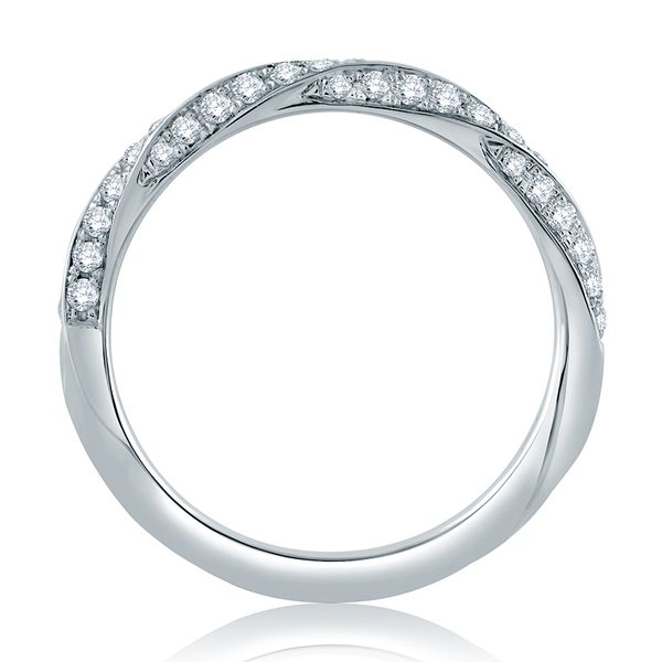 Twist Pavé Diamond Half Circle Stackable Band Image 3 Mark Allen Jewelers Santa Rosa, CA