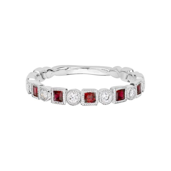 Ruby & Diamond Stackable Band Mark Allen Jewelers Santa Rosa, CA