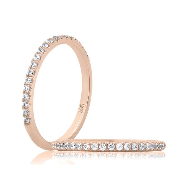 Rose Gold Diamond Band Image 2 Mark Allen Jewelers Santa Rosa, CA