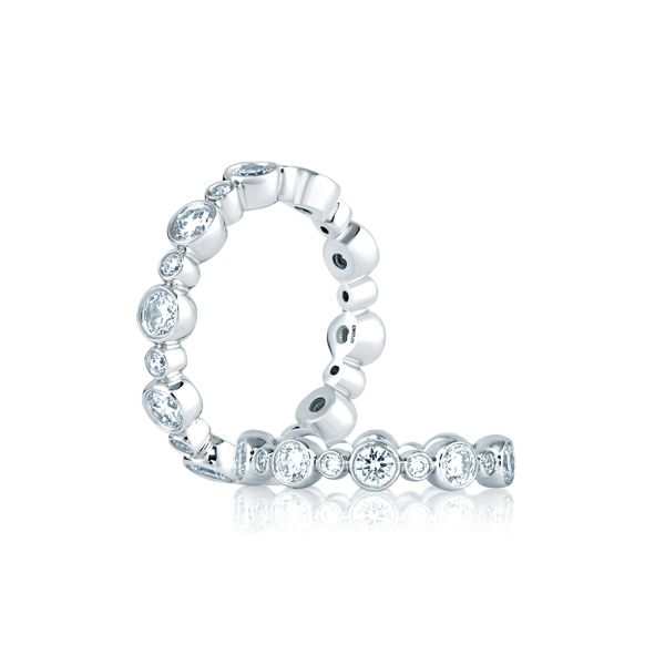 Bubble Eternity Diamond Stackable Band Image 3 Mark Allen Jewelers Santa Rosa, CA