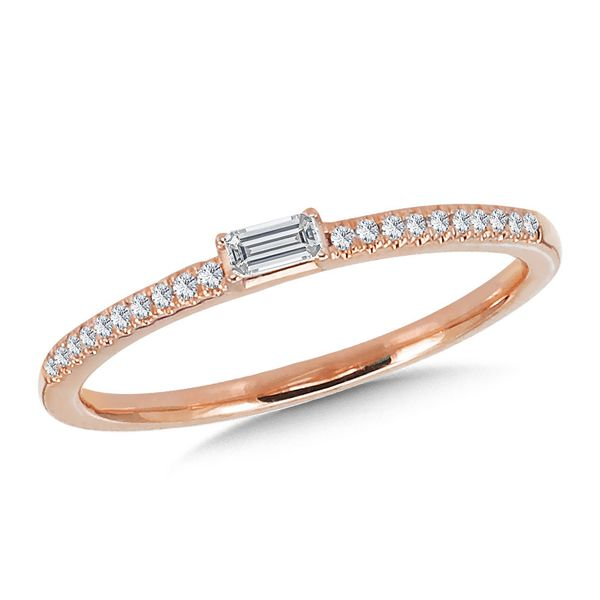 Rose Gold Baguette Diamond Stackable Ring Mark Allen Jewelers Santa Rosa, CA