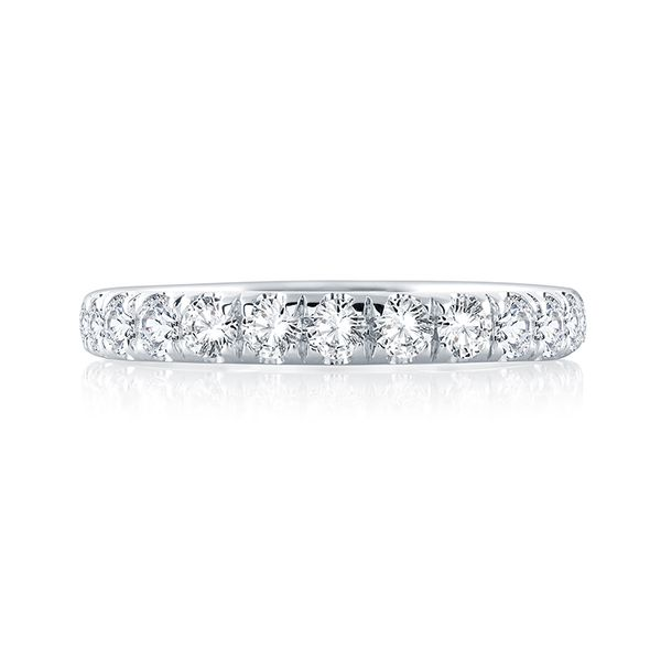 White Gold Diamond Band Image 3 Mark Allen Jewelers Santa Rosa, CA