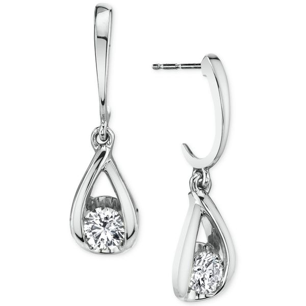 14k White Gold Diamond Earrings Mark Allen Jewelers Santa Rosa, CA