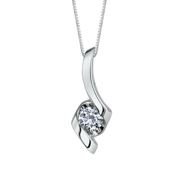White Gold Diamond Pendant Mark Allen Jewelers Santa Rosa, CA