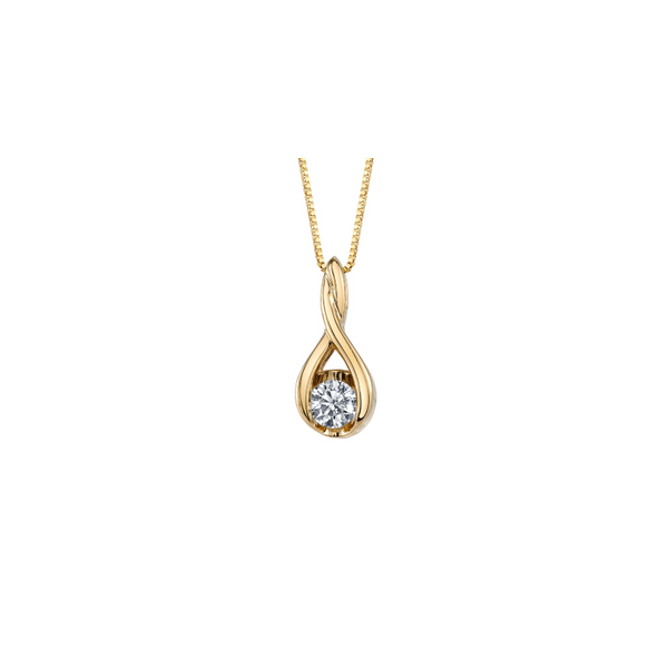 Yellow Gold Diamond Necklace Mark Allen Jewelers Santa Rosa, CA