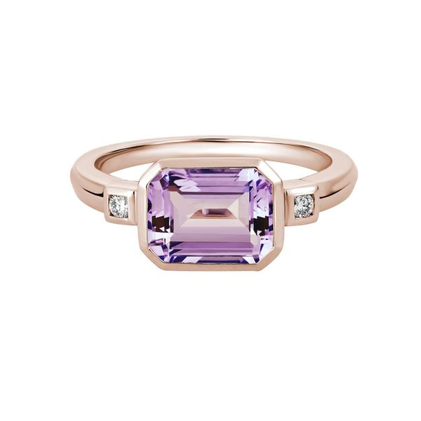 Rose Gold Pink Amethyst & Diamond Ring Mark Allen Jewelers Santa Rosa, CA