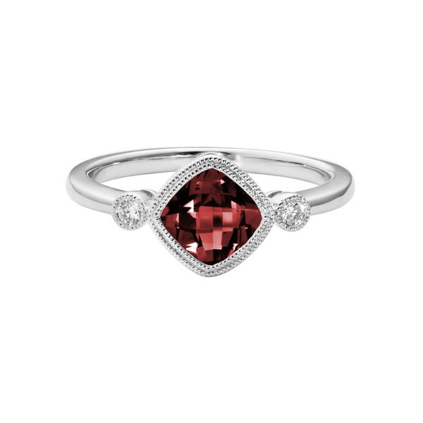 Garnet & Diamond Ring Mark Allen Jewelers Santa Rosa, CA