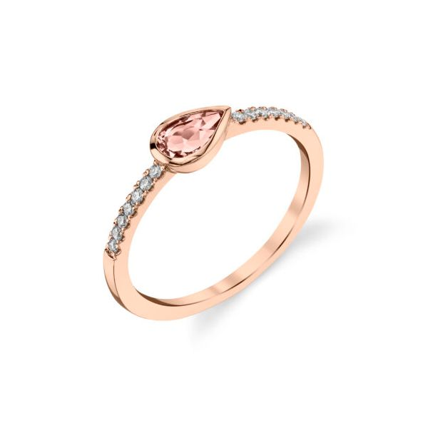 Morganite & Diamond Rose Gold Ring Mark Allen Jewelers Santa Rosa, CA