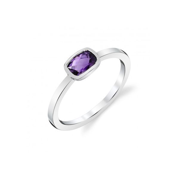 White Gold Amethyst Ring Mark Allen Jewelers Santa Rosa, CA