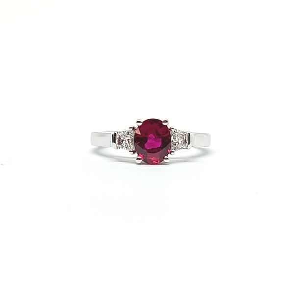 Natural Untreated Ruby & Diamond Ring Mark Allen Jewelers Santa Rosa, CA