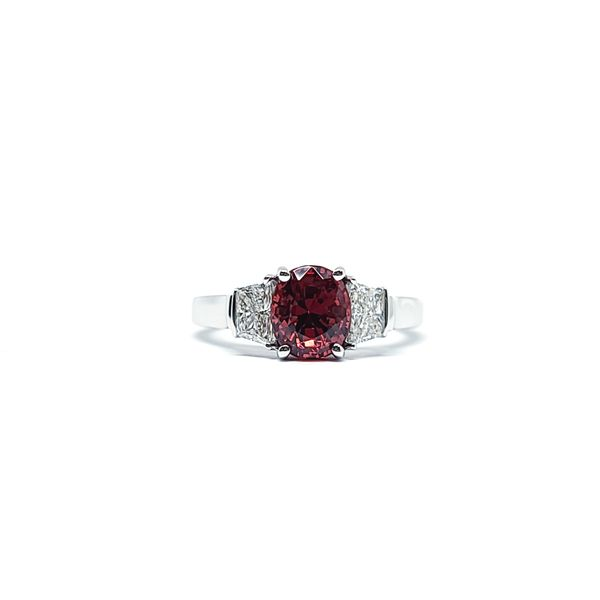 Red Spinel & Diamond Ring Mark Allen Jewelers Santa Rosa, CA
