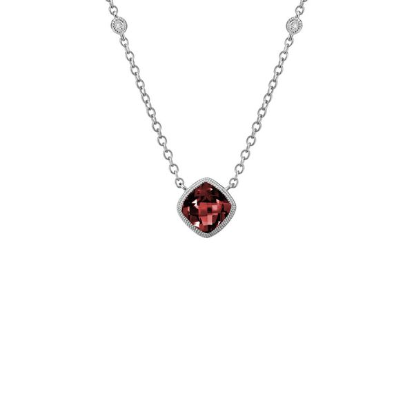 Garnet & Diamond Necklace Mark Allen Jewelers Santa Rosa, CA