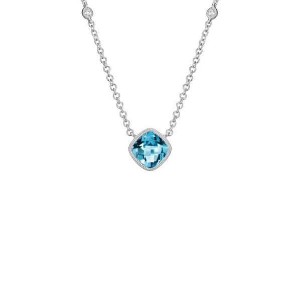 Blue Topaz & Diamond Necklace Mark Allen Jewelers Santa Rosa, CA