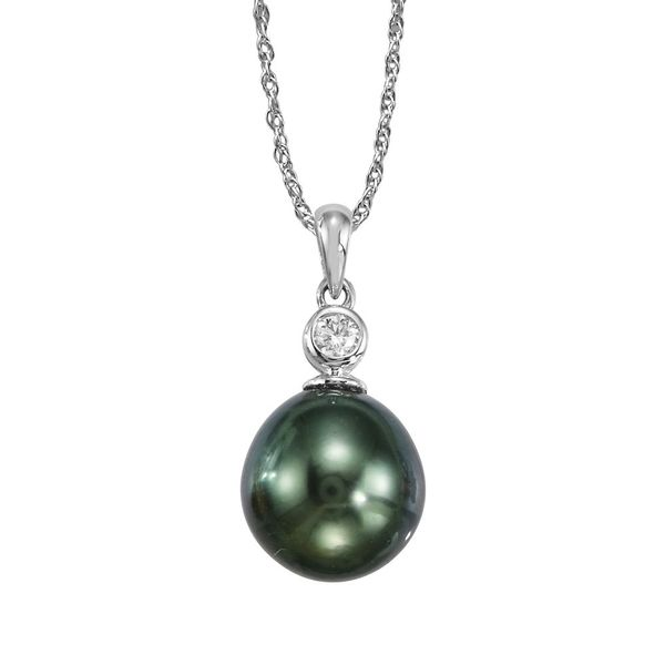 Tahitian Pearl & Diamond Necklace Mark Allen Jewelers Santa Rosa, CA