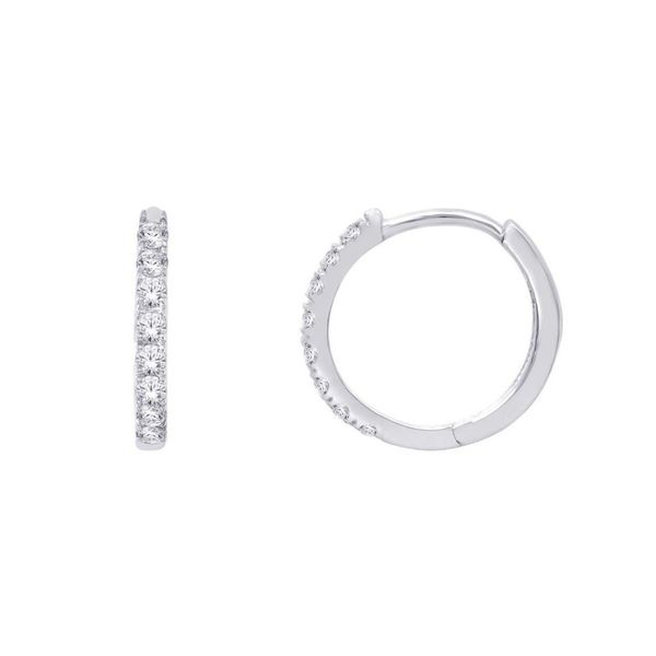 Diamond Hoop Earrings Mark Jewellers La Crosse, WI