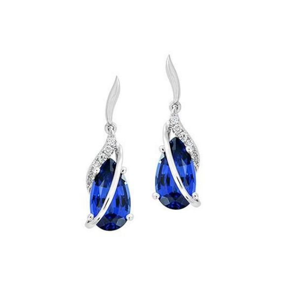 Created Sapphire Earrings Mark Jewellers La Crosse, WI