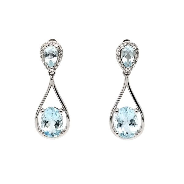 Aquamarine Earrings Mark Jewellers La Crosse, WI
