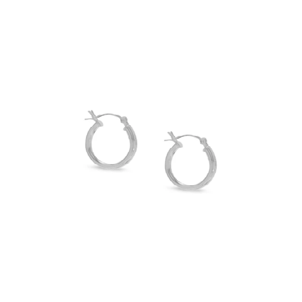 Silver Hoop Earrings Mark Jewellers La Crosse, WI