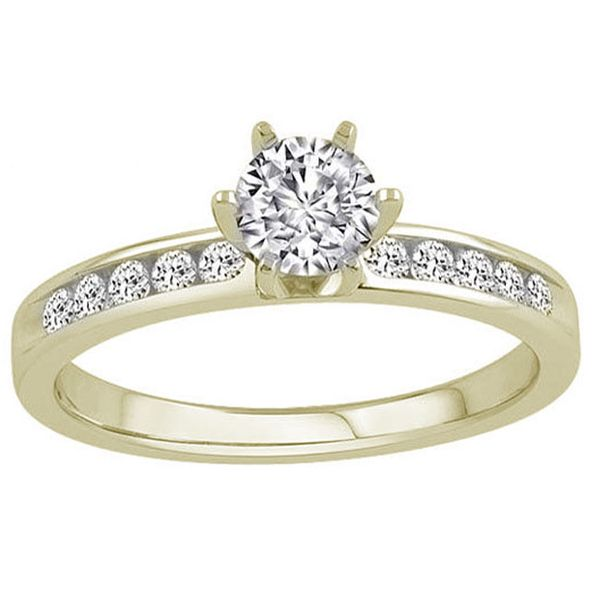 Round Channel Set Diamond Engagement Ring Meigs Jewelry Tahlequah, OK