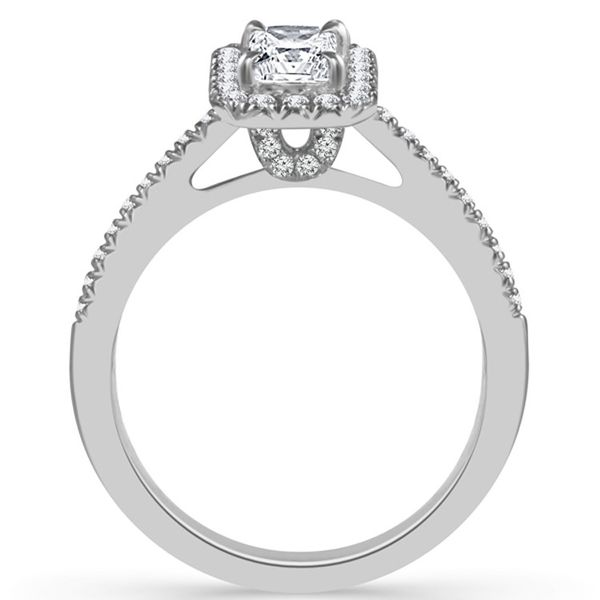 Radiant Cut Halo Diamond Engagement Ring Image 2 Meigs Jewelry Tahlequah, OK